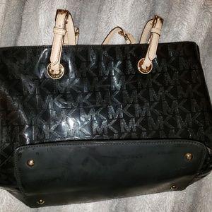 Black gently used women's purse